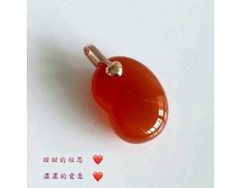 情人節紅豆玉髓吊飾