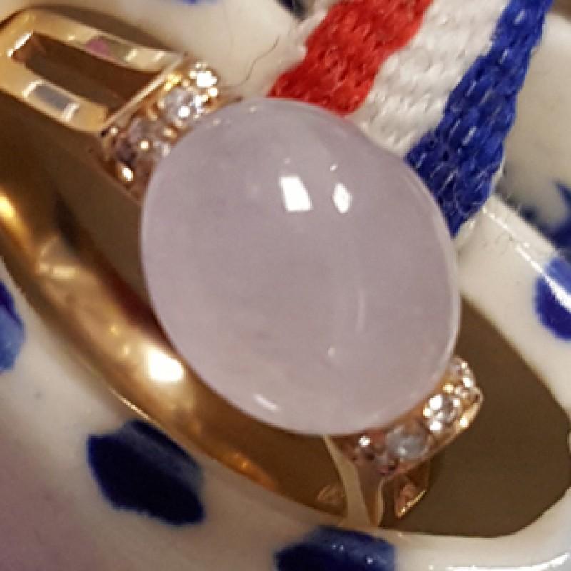 冰紫玉石戒指